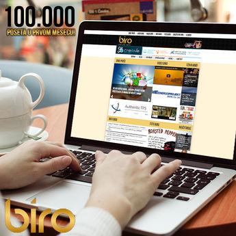 Veliki uspeh Biroa: 100.000 jedinstvenih posetilaca za manje od mesec dana!