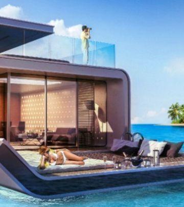 Arapski luksuz: Da li biste živeli u plutajućoj vili? (VIDEO)