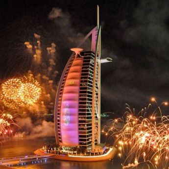 Burdž Al Arab: Vatromet sa sedam zvezdica