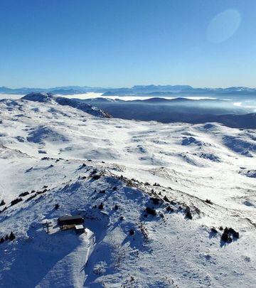 Jahorina pod snegom iz ptičje perspektive