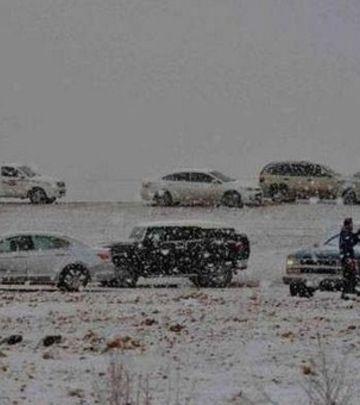 Zimske čarolije: Pustinja pod snegom! (VIDEO)