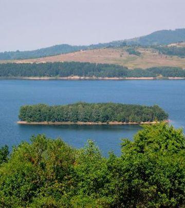 Čudo na Vlasinskom jezeru: Ostrvo doplovilo do obale (FOTO)