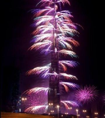 Praznik za oči: Novogodišnji vatromet u Dubaiju