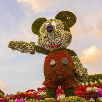 Skulptura za Ginisa: Miki Maus od 100.000 cvetova
