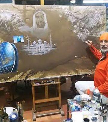 U čast velikih šeika: Srpski slikar osvaja Emirate (FOTO)