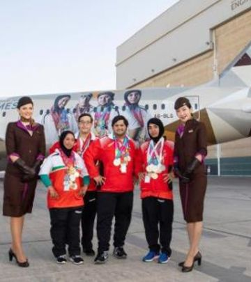 Specijalne Olimpijske igre: Sportisti na avionu Etihada