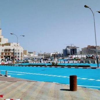 PLAVETNILO I NA ZEMLJI: Putevi u Dohi promenili boju