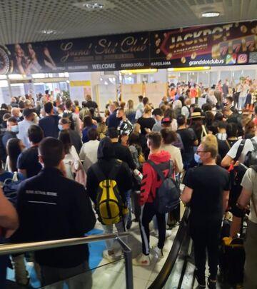 Gužve na pasoškoj kontroli u Beogradu